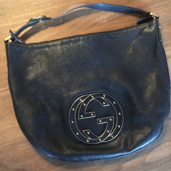 dfa964ee83bb3f Gucci Bags | Leather Hobo Bag With Large Studded Logo Gg | Poshmark